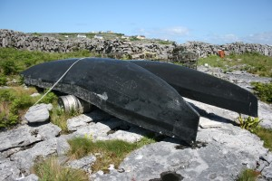 Curraghs on Aran islands